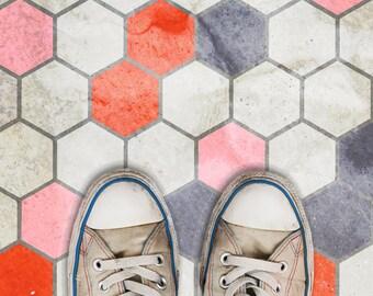 Hexagon Tile (MINI) Allover Geometric Wall Stencil
