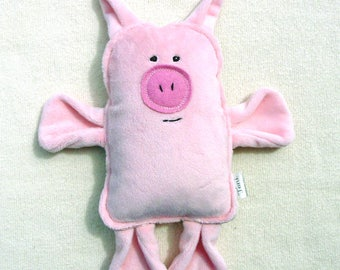 Plush Pink Pig - Stuffed Toy Pig - Classic Toy - Farm Animal Plush - Pink Pig - Piglet Toy - Animal Friend - Simple Toy - Plush Minky Pig
