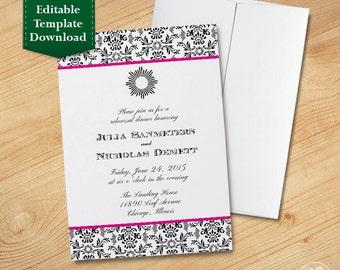 Classic Party Invitation Template, Rehearsal Dinner, Wedding Shower Invitation, Bridal Shower Invitation, Anniversary