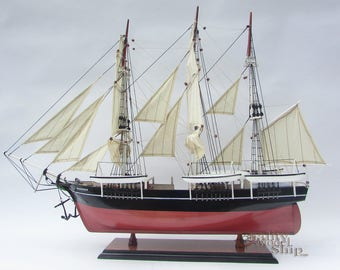Wanderer Whaleship Handcrafted Model Ready for Display