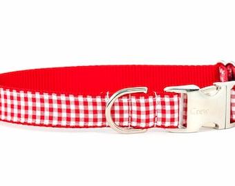 Crew Lala™ Red Gingham Dog Collar