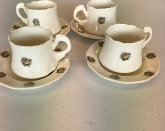 Ceramic cups and saucers