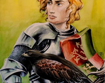 medieval knight fantasy ilustration