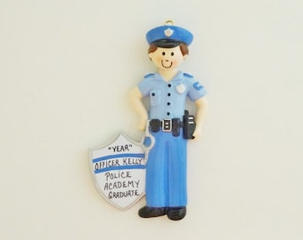 Police Academy Personalized Christmas Ornament - Male Police Academy Personalized Ornament - Female Police Academy Personalized Ornament