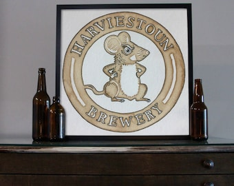 Beer Art - Craft Beer Art - Beer Painting - Harviestoun Beer Art
