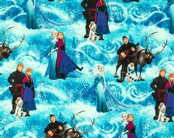 Disney Frozen Scenic fabric by Cotton Calico