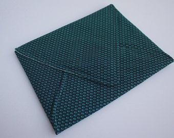 iPad Envelope Sleeve in Aqua, Black, & White