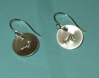 Petit Oiseau - beautiful sterling silver earrings