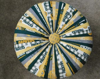 Collectible One-Of-A-Kind Green Bay Packer Fabric Tuffet