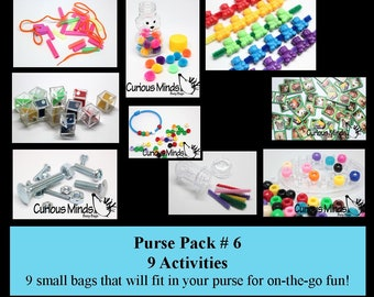 Purse Pack #6 -  Small and Packable Busy Bags  Sets