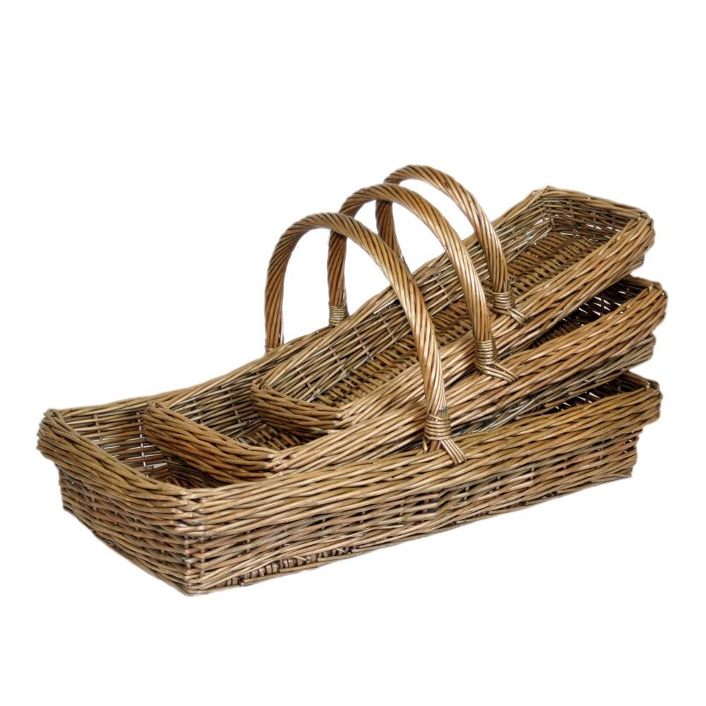 Wicker Kew Garden Trug Basket