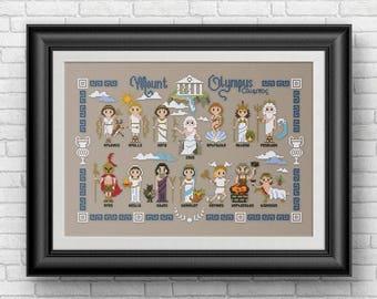 Greek Gods and Goddesses - PDF cross stitch pattern
