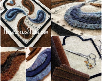Wool Applique Pattern - Tulip and Philphlot - Pattern - #WA105