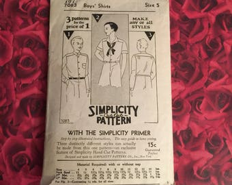 1920's Vintage Simplicity Sewing Pattern