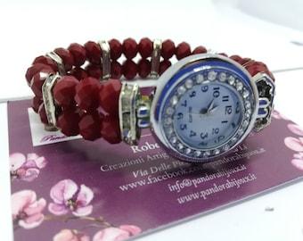 Unique PANDORABIJOUX watch with elastic strap