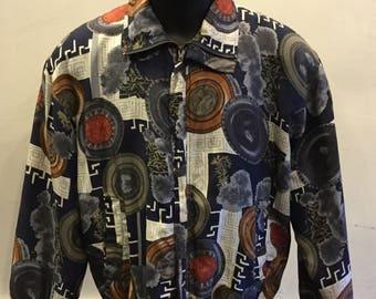 Fuda International 100% Silk Bomber Jacket Tag Size Medium