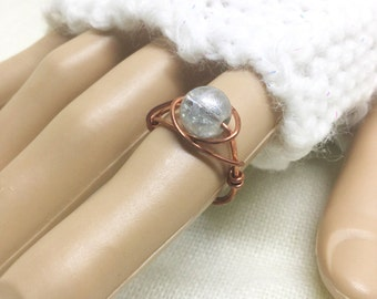 Copper ring, size 5.5, Moon Sparkle