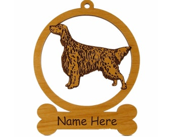 English Setter Ornament 083158 Personalized With Your dog's Name