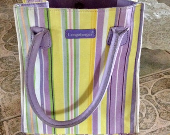 Longaberger Small Tote Bag Springtime
