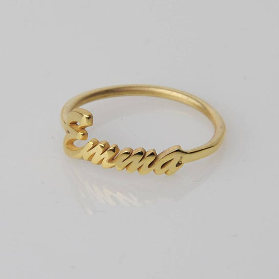 infinity mynamenecklace gold ring with jumbo engraving plating rings inner name product