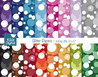 Glitter Digital Papers - Confetti Scrapbooking Papers -  card design, invitations, web design, scrapbooking - INSTANT DOWNLOAD