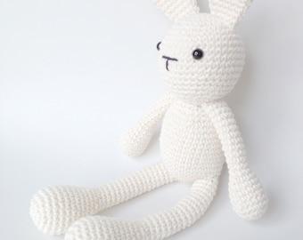 Easter Bunny Plush, Bunny Stuffed Animal, Bunny Plushie, Bunny Stuffed Toy, Crochet Bunny