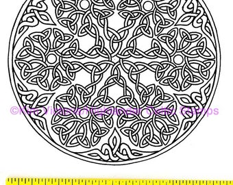 Snowflake Large Knotwork Unmounted Rubber Stamp #100