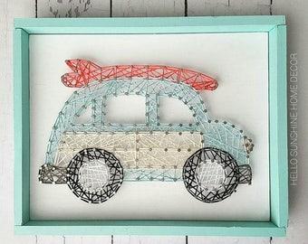 Woody Wagon String Art