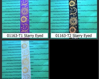 """Offray - Ribbon #7 - Starry Eyed - assorted designs - 9 ft x 1 3/8"""" - 1 spool - #01163"""