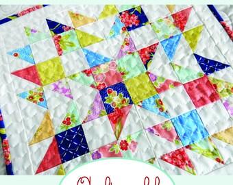 Summer Star Mini Quilt PDF Pattern