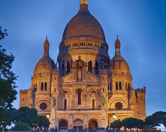 Sacre Coeur at Twilight, Paris, France! 25003 Wall Art Home Decor Art Modern Art Monastery Photography Spiral Staircase Art