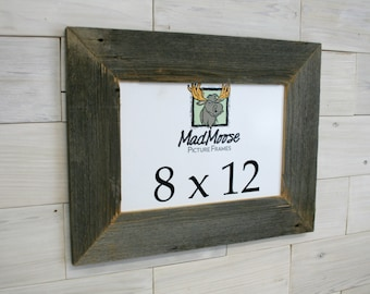 "8x12 BarnWood [Thin x 3""] Picture Frame"