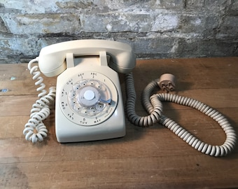 1960s Ivory Dial Telephone