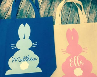 Personalized Easter Tote Bags- Kids Easter Totes- Easter