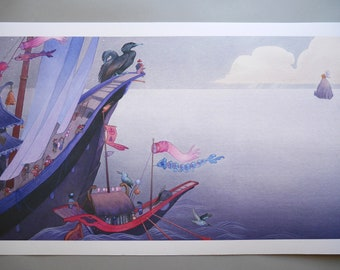 Mother Sea and the Island - LARGE Fine Art Print