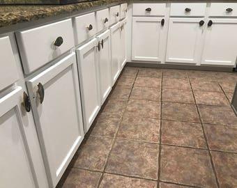 Custom Brown Grey Black Tan Agate Slice Drawer Pulls Knobs Kitchen Cabinet Handles Bathroom Cabinet Pull Screws Included