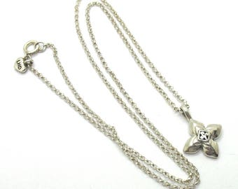 """Lois Hill .925 silver 16"""" chain necklace with small cross pendant."""