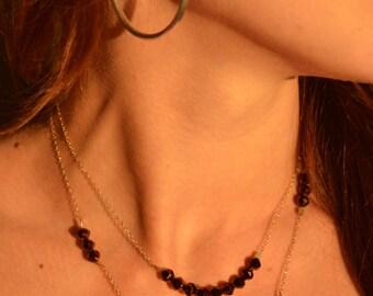 Sterling Silver Crystal Necklace  - Valentine
