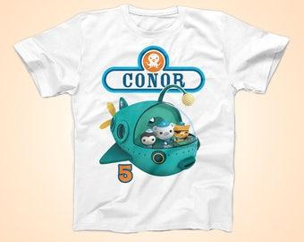 Octonauts Birthday Tshirt, Barnacle Birthday Shirt,  Peronalized Party Shirt
