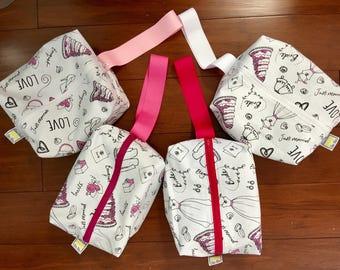 Brides Travel / Toiletries bags 3x7x8 inches