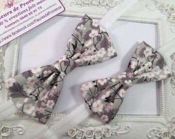 SET of 2 bow tie Liberty of London Mitsi Gray man and child