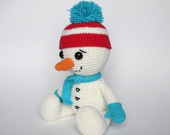 Snowman - Amigurumi Crochet Pattern / PDF e-Book / Stuffed Animal Tutorial