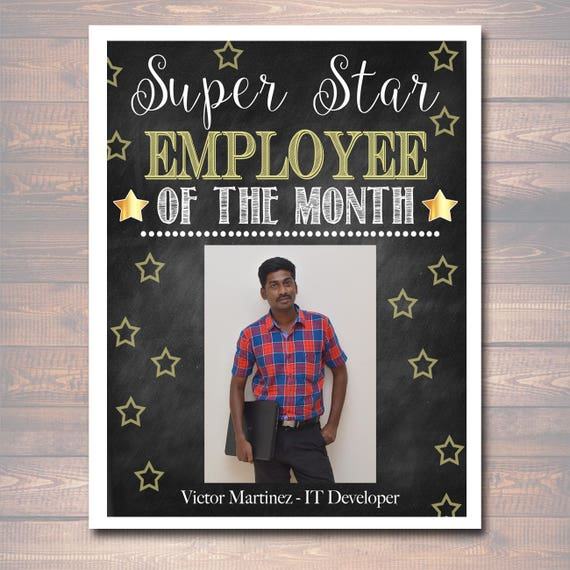 employee of the month template with picture