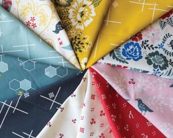 FAT QUARTER Bundle- Merryweather, Birch Fabrics, Organic Quilting Cotton, 11 Prints