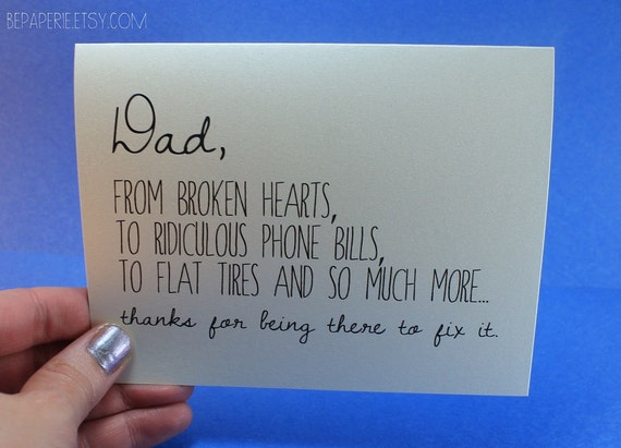 Birthday Cards For Daddy From Daughter ~ Dad card father s day card dad birthday card funny