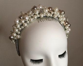 Pearl beaded headband