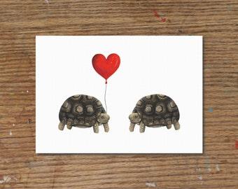 Tortoise Love   Art Print