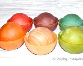 Toddler Waldorf Rainbow Color Matching by Zúbky - Waldorf Montessori Preschool Game for Children