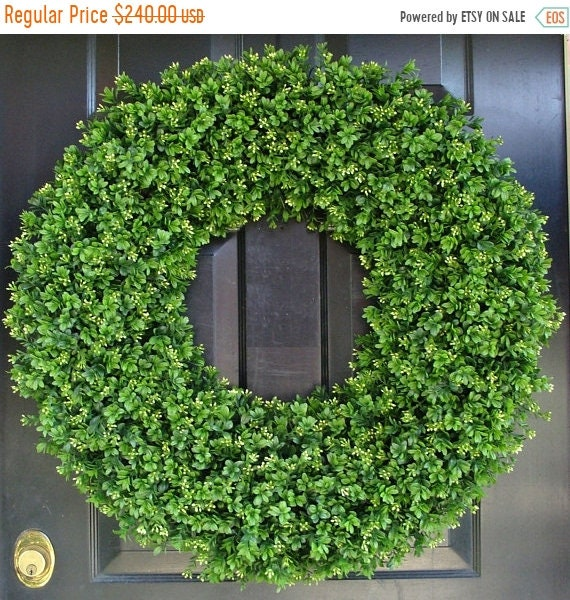 SPRING WREATH SALE 28 Inch Xxl Artificial Boxwood Wreath, Oversized Wreath, Mantle Decor, Church Decor, Church Decoration, Wedding Wreath, S