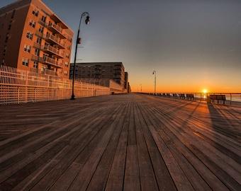 Long Beach Boardwalk. Wall art, photo print. Long Island.